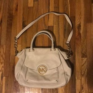 Michael Kors White Satchel w/ Gold Hardware